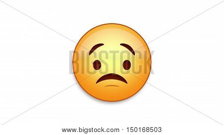 Worried emoji emoticon. Easy integration in photo and video.