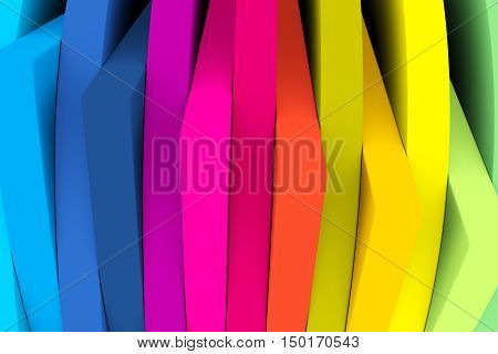 angle line abstract colorful background 3d illustration