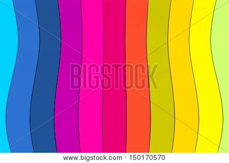 wave line abstract colorful background 3d illustration