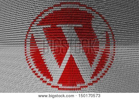 WordPress is presented in the form of binary code 3d illustration