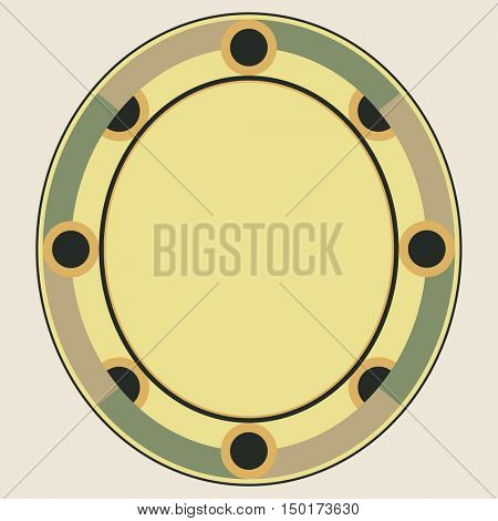 oval frame, vector design