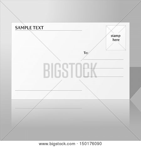 The back of a blank postcard vector.