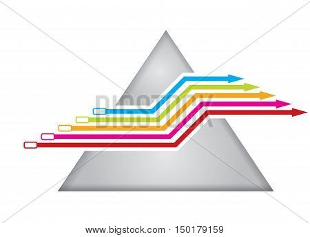 Graph of development illustration with copy space area