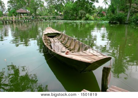 Boat On The Calm Lake