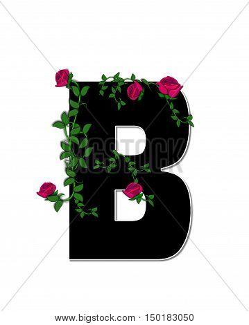 Alphabet Rose Trellis B