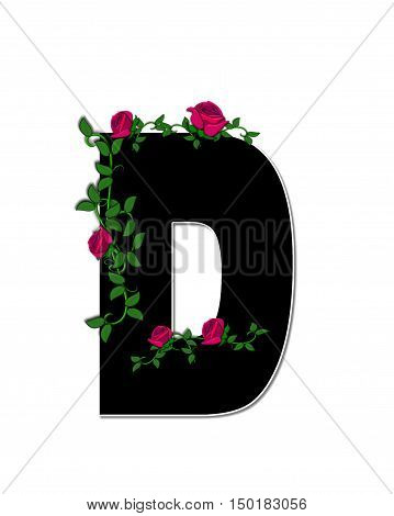 Alphabet Rose Trellis D