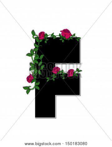 Alphabet Rose Trellis F