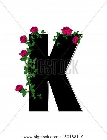Alphabet Rose Trellis K