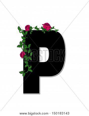 Alphabet Rose Trellis P