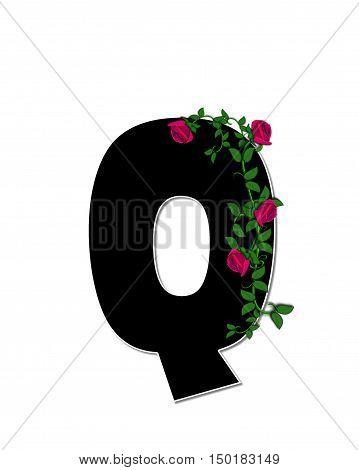 Alphabet Rose Trellis Q
