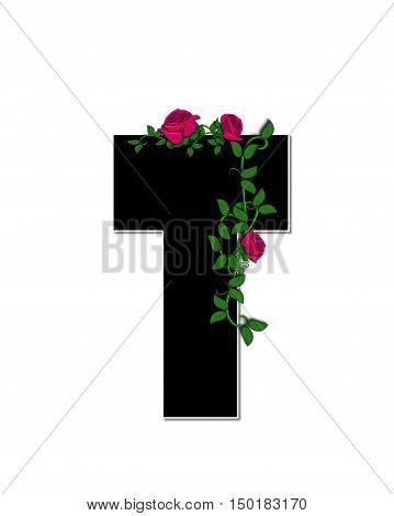 Alphabet Rose Trellis T