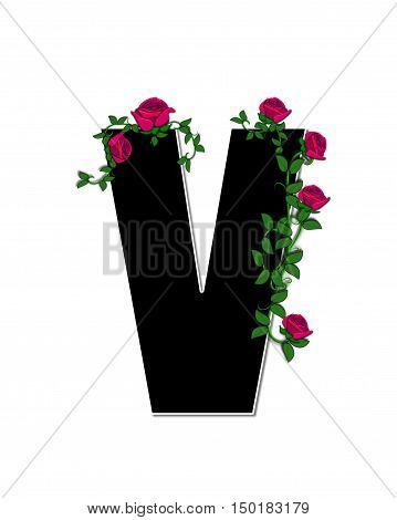 Alphabet Rose Trellis V