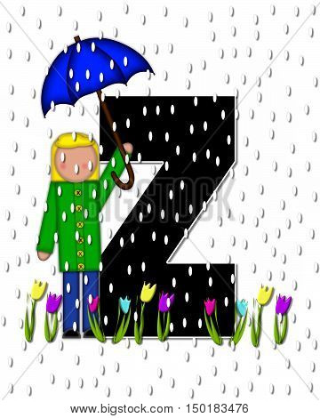Alphabet Children April Showers Z