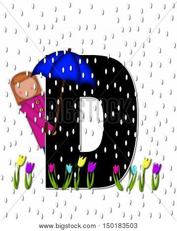 Alphabet Children April Showers D