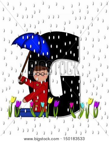 Alphabet Children April Showers G