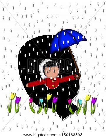 Alphabet Children April Showers Q