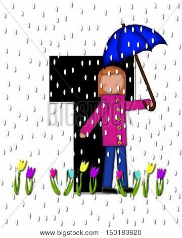 Alphabet Children April Showers T