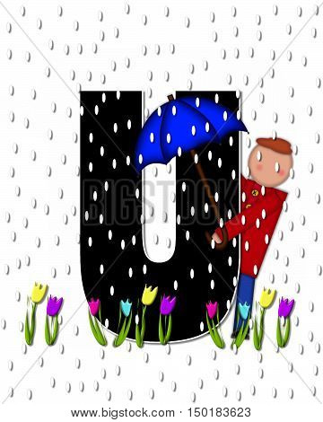 Alphabet Children April Showers U