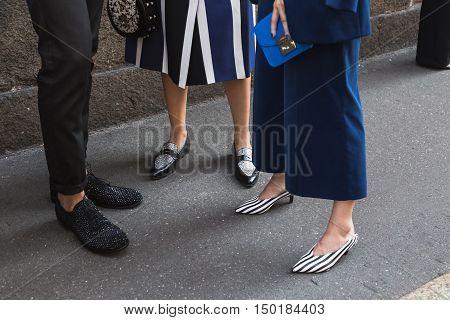 Ddetail Of Shoes During Milan Fashion Week