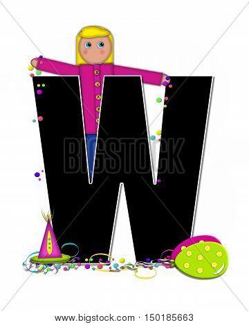 Alphabet Children Birthday Celebration W