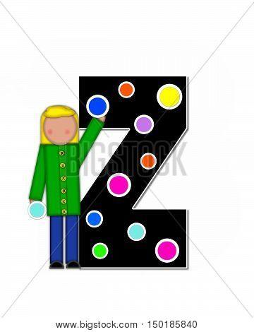 Alphabet Children Decorating Letters Z