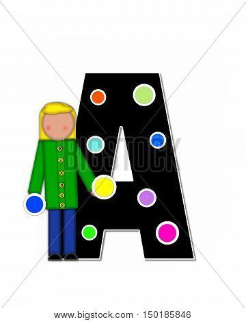 Alphabet Children Decorating Letters A