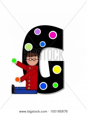 Alphabet Children Decorating Letters G