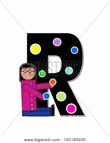 Alphabet Children Decorating Letters R