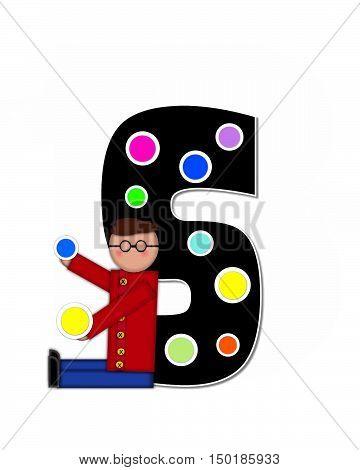 Alphabet Children Decorating Letters S