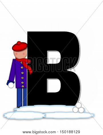 Alphabet Children Snow Fight B