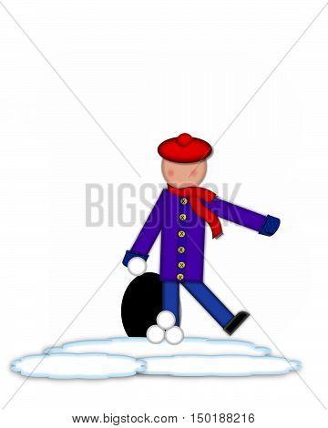 Alphabet Children Snow Fight Period