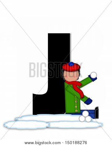 Alphabet Children Snow Fight J
