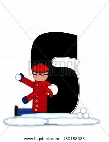 Alphabet Children Snow Fight S