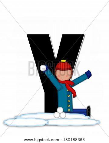 Alphabet Children Snow Fight Y