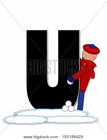 Alphabet Children Snow Fight U