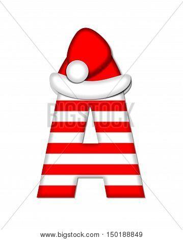 Alphabet Christmas Candy Cane A