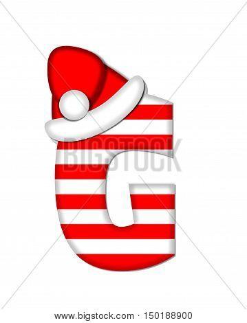 Alphabet Christmas Candy Cane G