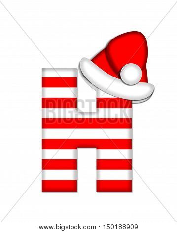 Alphabet Christmas Candy Cane H