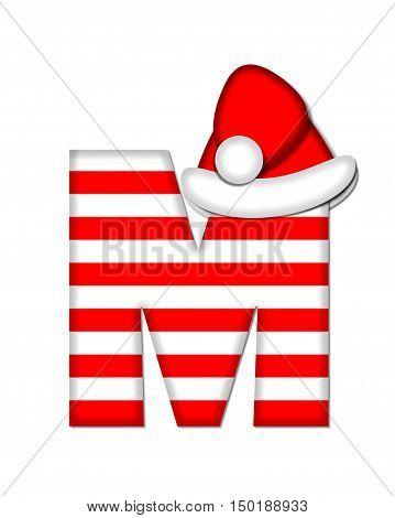 Alphabet Christmas Candy Cane M