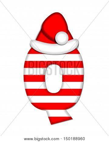 Alphabet Christmas Candy Cane Q