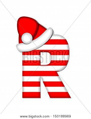 Alphabet Christmas Candy Cane R