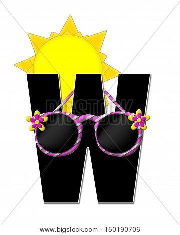 Alphabet Sun Shades W