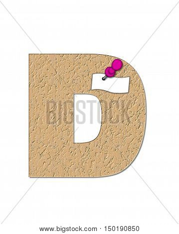 Alphabet Cork Board D