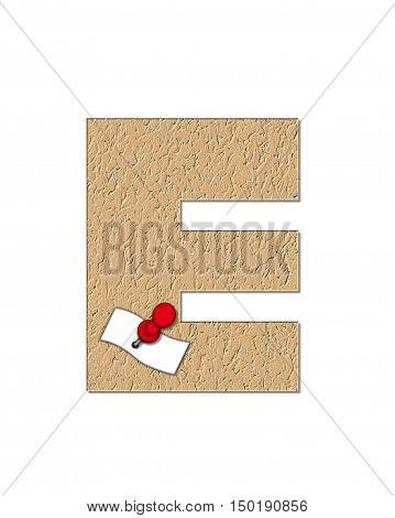 Alphabet Cork Board E