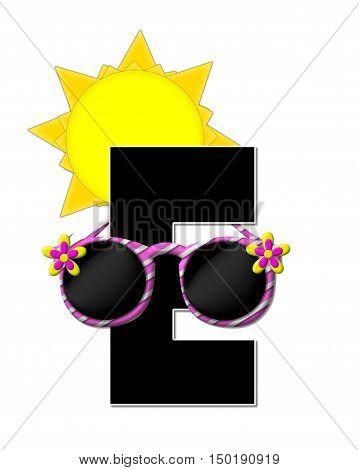 Alphabet Sun Shades E