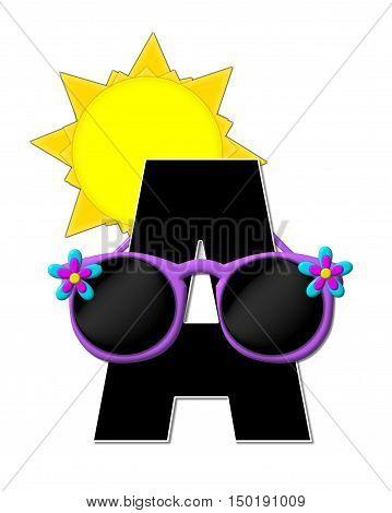 Alphabet Sun Shades A