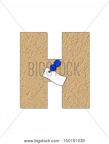 Alphabet Cork Board H