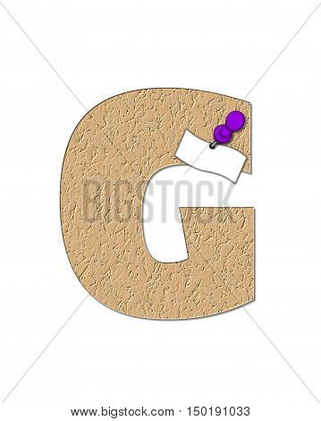 Alphabet Cork Board G