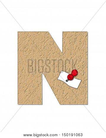 Alphabet Cork Board N