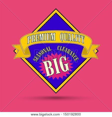 Big Sale special offer banner. Vector illustration